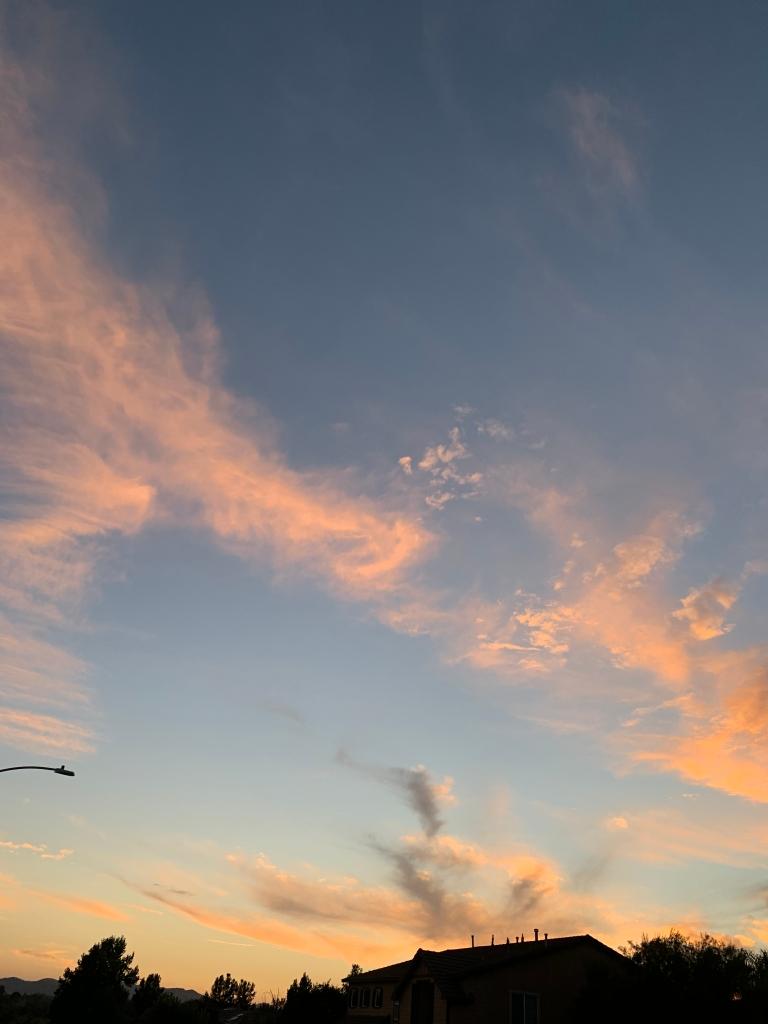 Sunset over Temecula neighborhood.